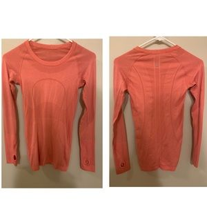 Pink Lululemon Long Sleeve Size 2 XS